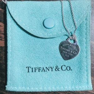 Authentic Return to Tiffany Heart Tag & Charm